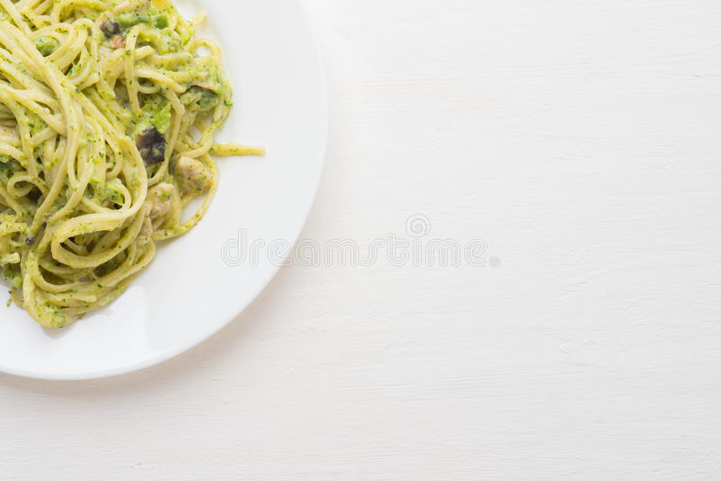 Frische heiße Spaghettis stockfotos