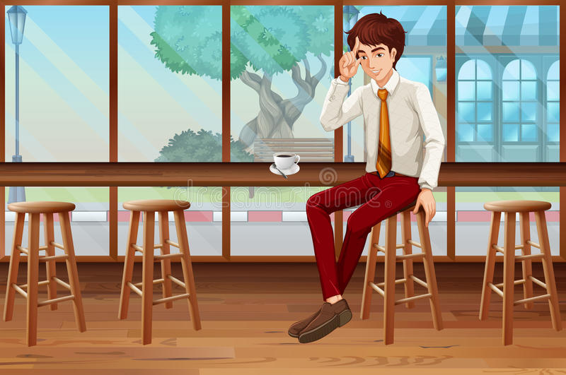 Frische Kaffeetassen und Kaffeebohnen herum lizenzfreie abbildung