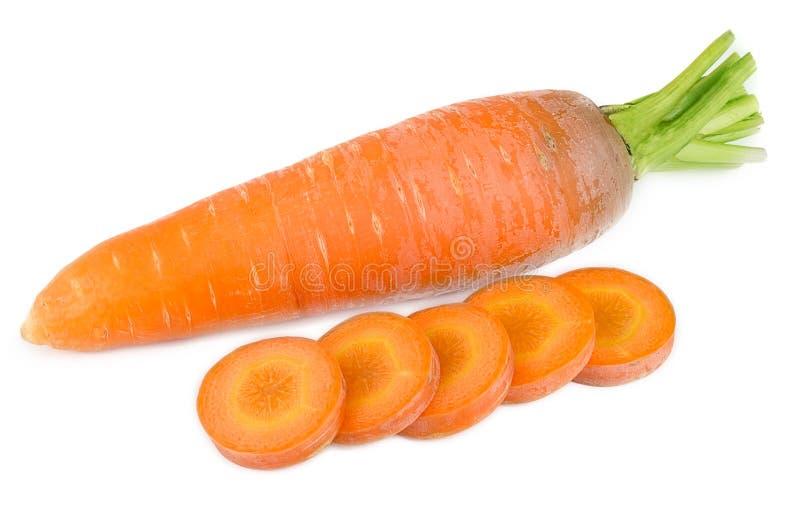 Frische Karotten auf weißem Hintergrund lizenzfreie stockfotografie