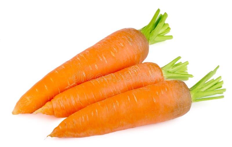 Frische Karotten auf weißem Hintergrund stockbild