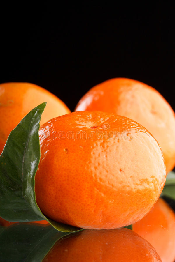 Frische Mandarinefrüchte stockbilder