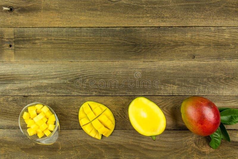 Frische Mangofrüchte stockbild
