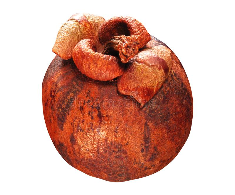 Frische Mangostanfrucht lokalisiert stockfotos