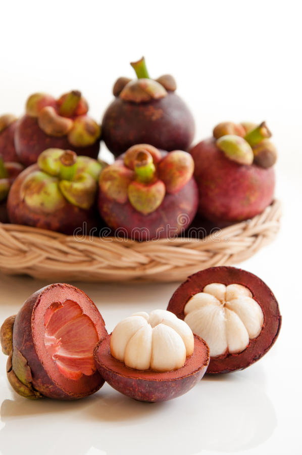 Frische Mangostanfruchtfrucht lizenzfreies stockfoto
