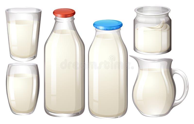 Frische Milch stock abbildung