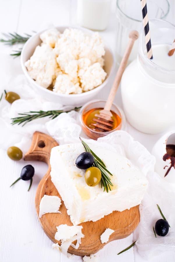 Frische Milchprodukte stockfoto