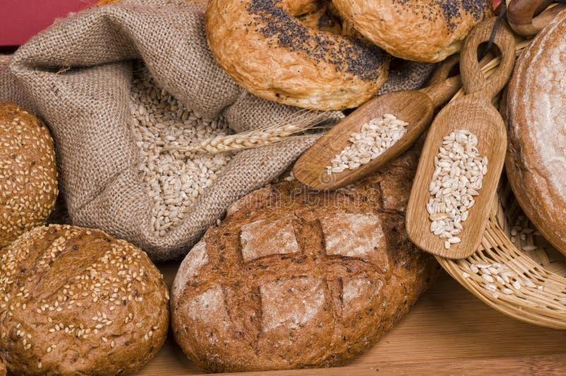 Frische Nahrung des Brotes stockbild
