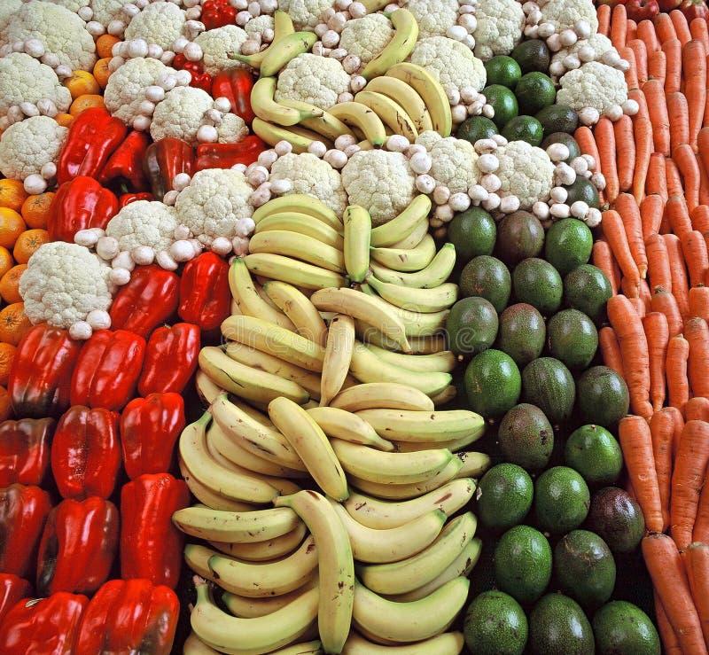 Frische Nahrungsmittelbildschirmanzeige stockfotografie