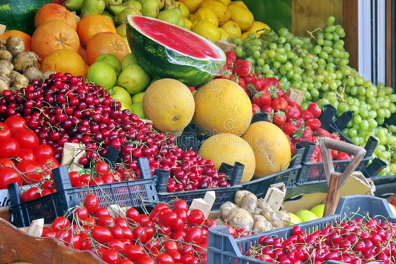 Frische Obst und Gemüse stockbild