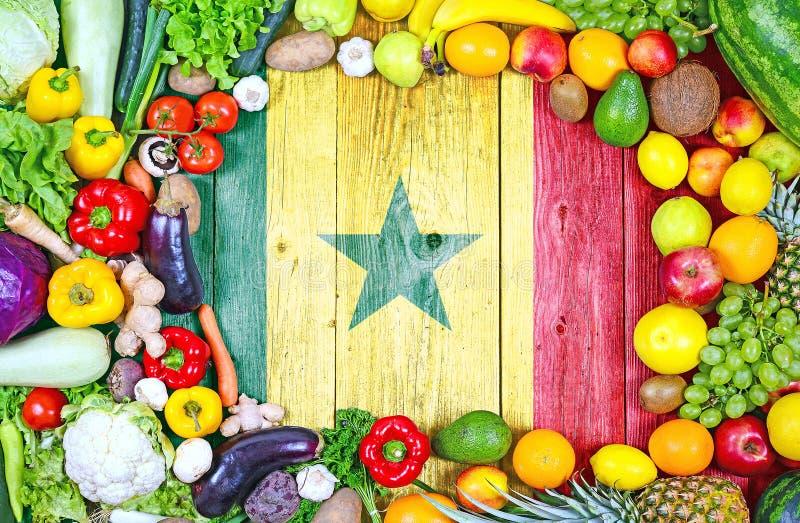 Frische Obst und Gemüse von Senegal stockbild
