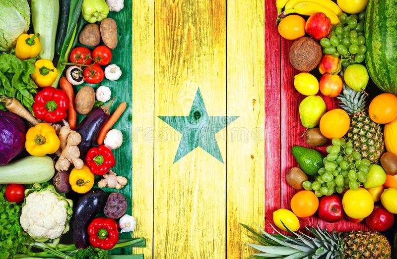 Frische Obst und Gem?se von Senegal stockbild