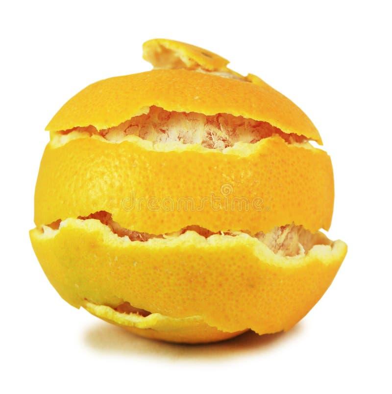 Frische Orange der Schale stockfoto