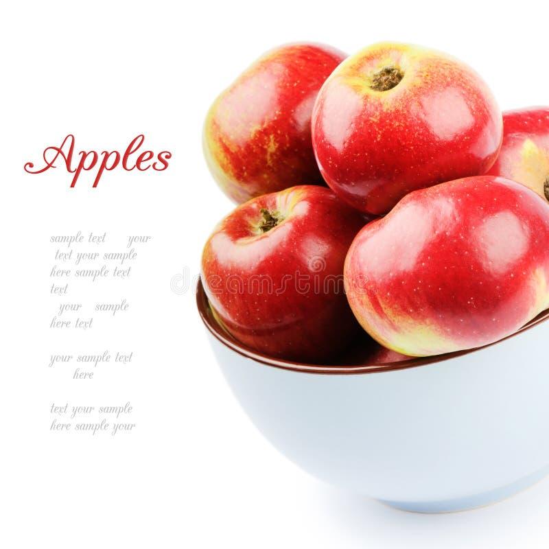 Frische organische Äpfel in einer Schüssel lizenzfreies stockfoto