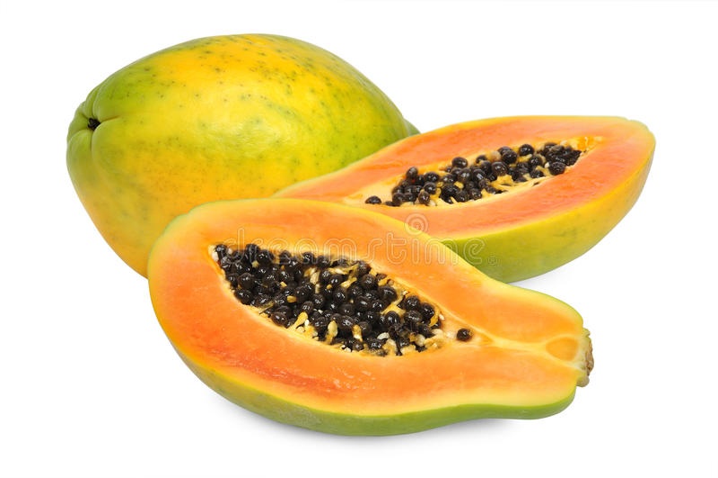 Frische Papaya stockbilder