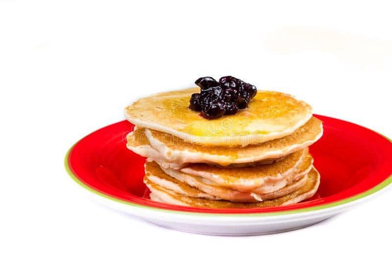 Download Frische Pfannkuchen Mit Blaubeermarmelade Stockbild - Bild von platte, störung: 96925109