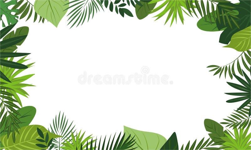 Frische Regenwaldkonzeptfahne, Karikaturart vektor abbildung