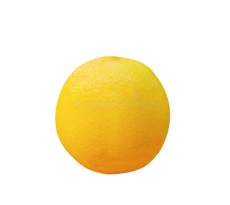 Frische reife gelbe Zitrone lokalisiert auf weißem Hintergrund lizenzfreie stockfotos