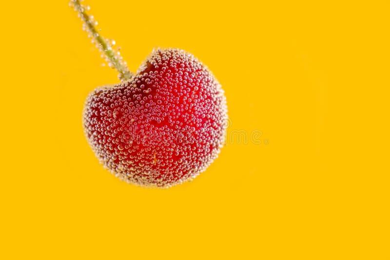 Frische rote Kirschfrucht stockfotos