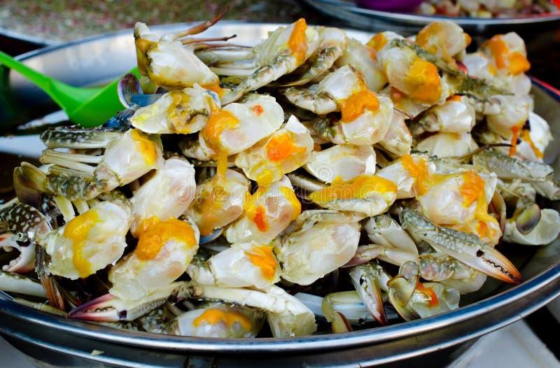 Frische rote Krabbenei-Feinschmeckermeeresfrüchte lizenzfreies stockfoto