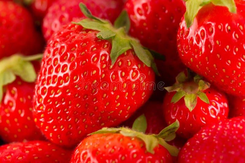 Frische rote saftige Erdbeeren lizenzfreie stockfotos