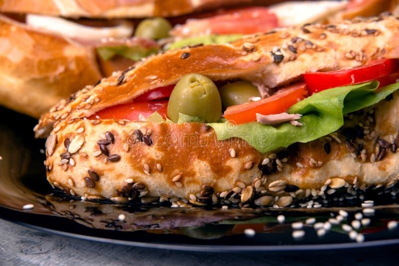 Frische Sandwiche, Abschluss oben lizenzfreie stockbilder