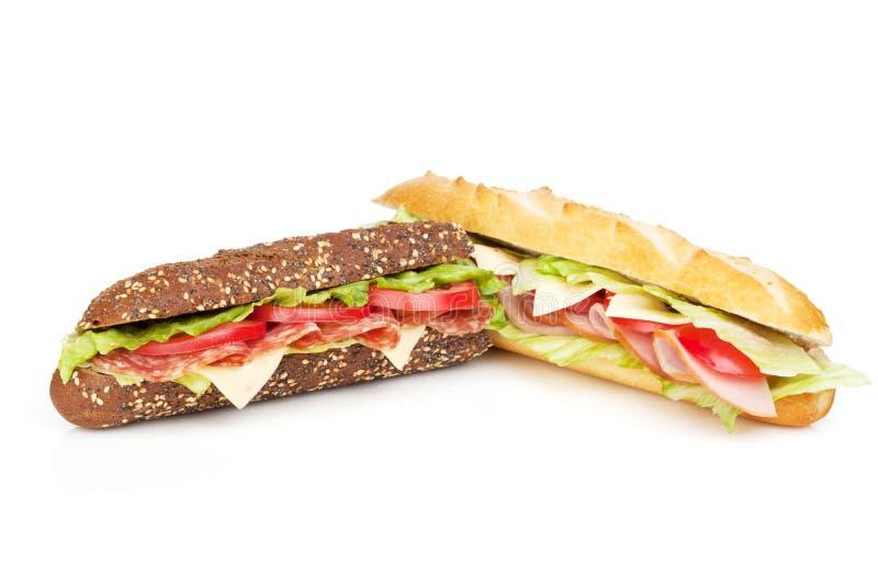 Frische Sandwiche mit Fleisch und Gemüse stockbild