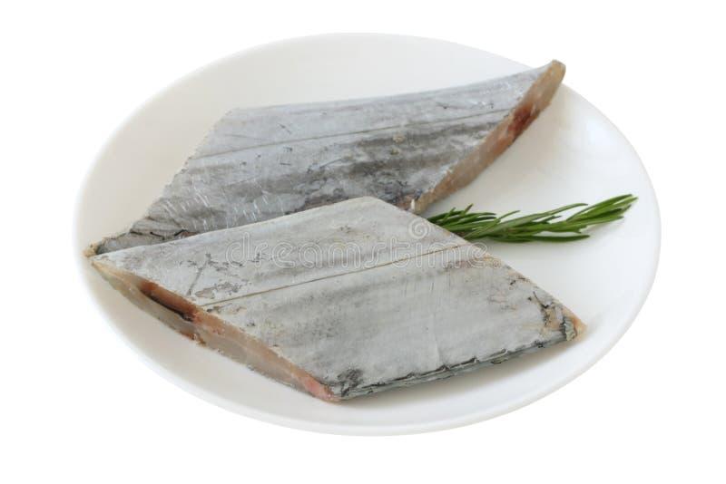 Frische Schwertfische mit Rosmarin stockbild