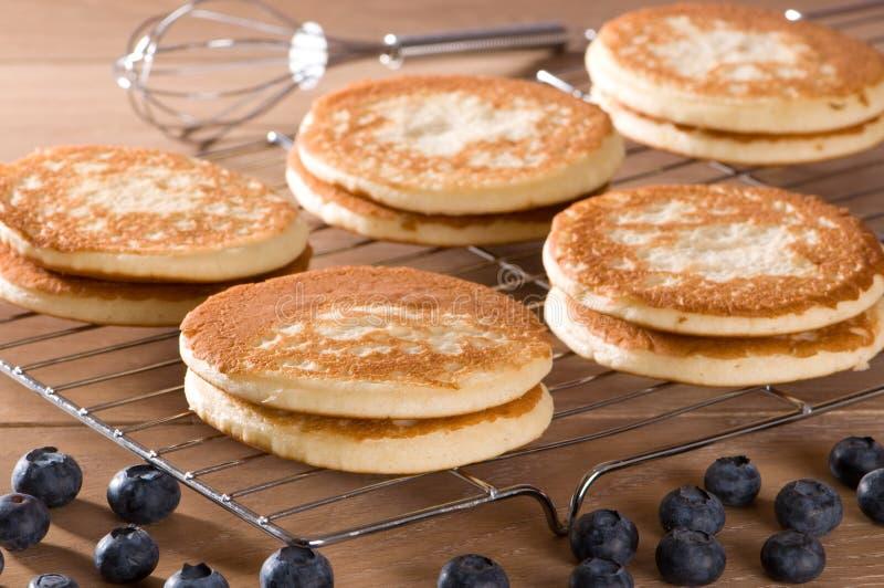 Frische selbst gemachte Pfannkuchen stockfoto