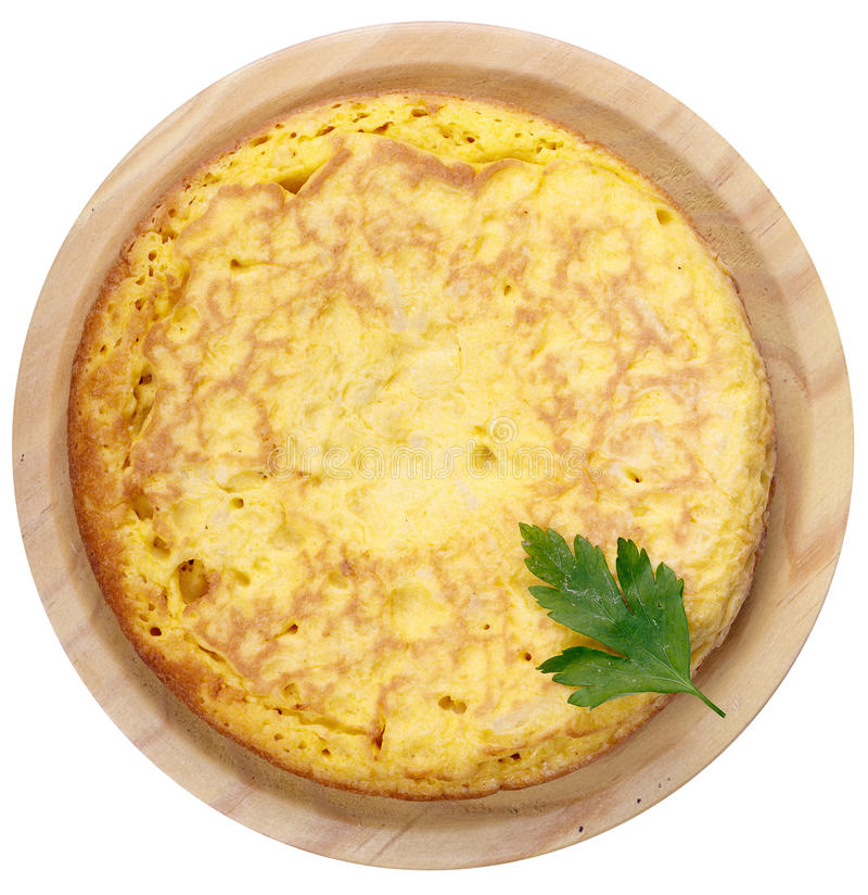 Frische selbst gemachte spanische Tortilla, Omelett lizenzfreie stockfotografie