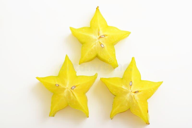 Frische Sternfrüchte stockbilder