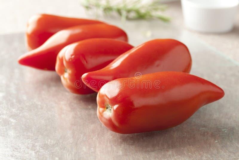 Frische Tomaten Cornue DES Anden lizenzfreies stockfoto