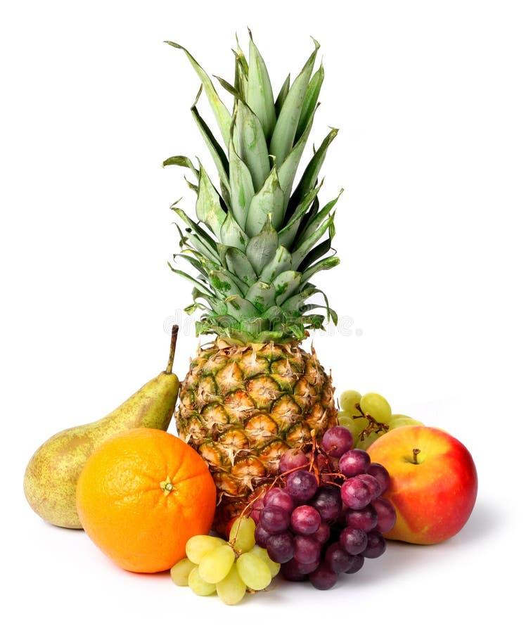 Frische tropische Früchte trennten stockbild