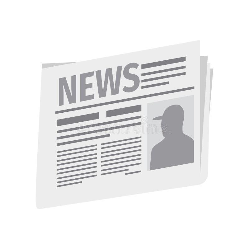 Frische Zeitung auf weißem Hintergrund vektor abbildung