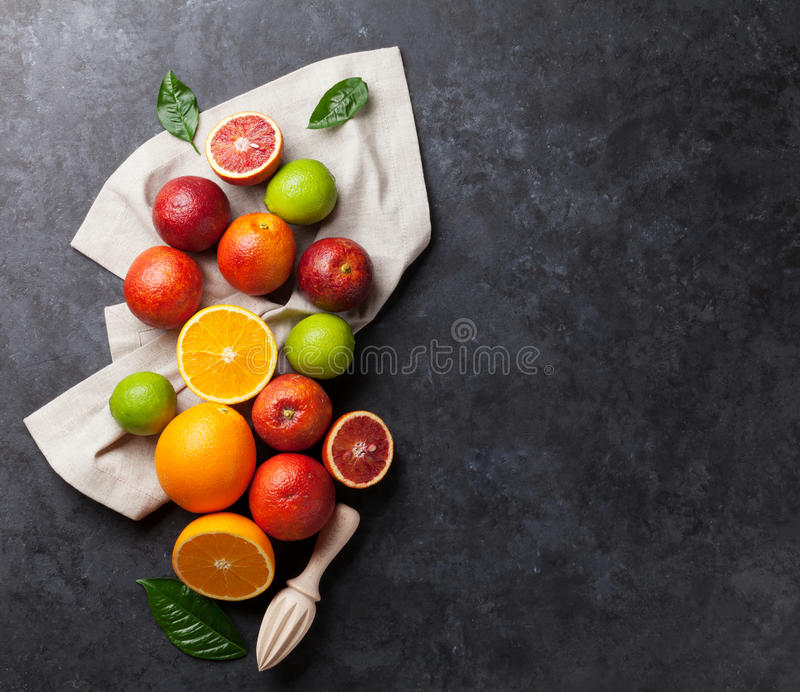Frische Zitrusfrüchte stockfotos