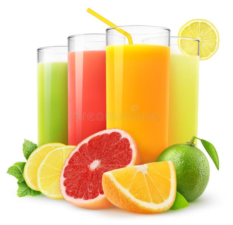 Frische Zitrusfruchtsäfte lizenzfreie stockfotografie