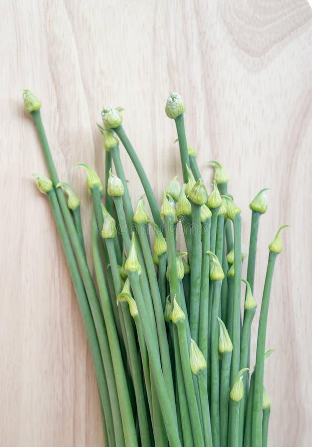 Frische Zwiebelblume für das Kochen lizenzfreies stockbild