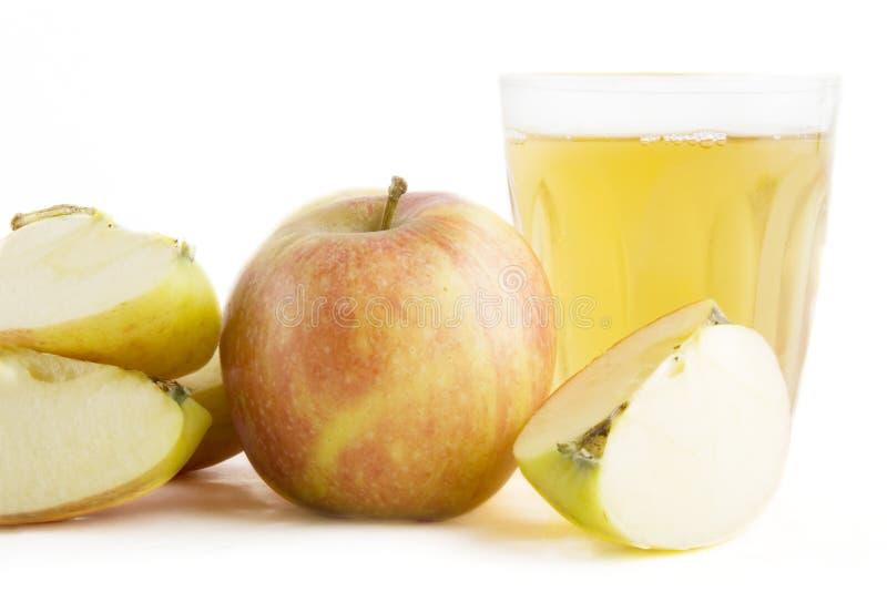 Frischer Apfelsaft stockfotografie