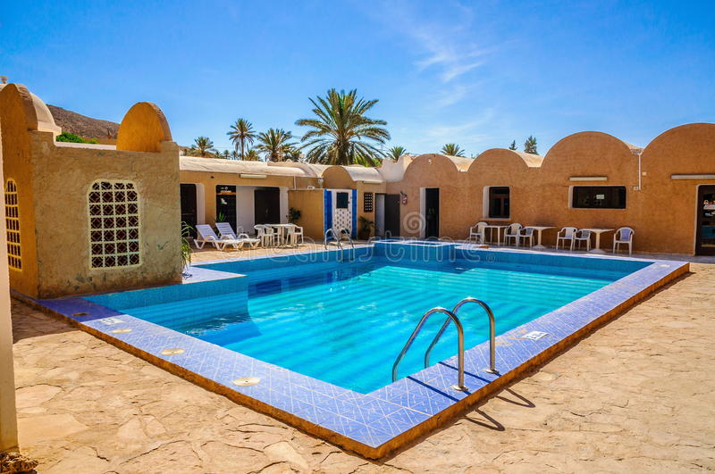 Superb Download Frischer Blauer Swimmingpool Im Hotel, Sahara Wüste, Tunesien,  Nord Afrika