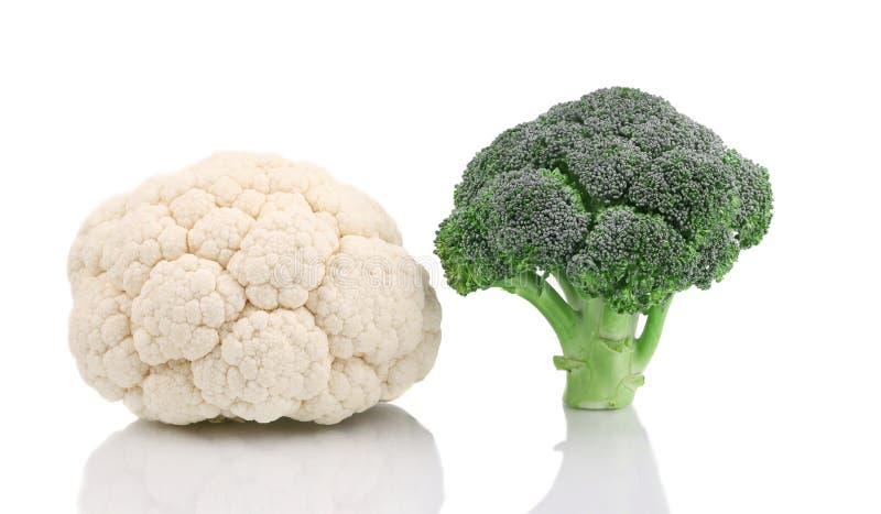 Frischer Blumenkohl und Brokkoli lizenzfreies stockbild
