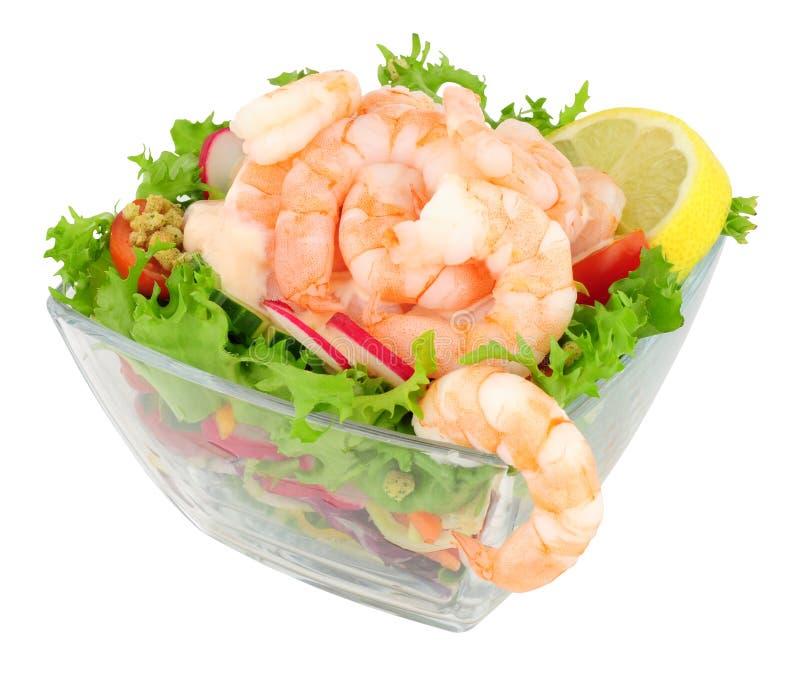 Frischer Garnelen-Salat stockbild