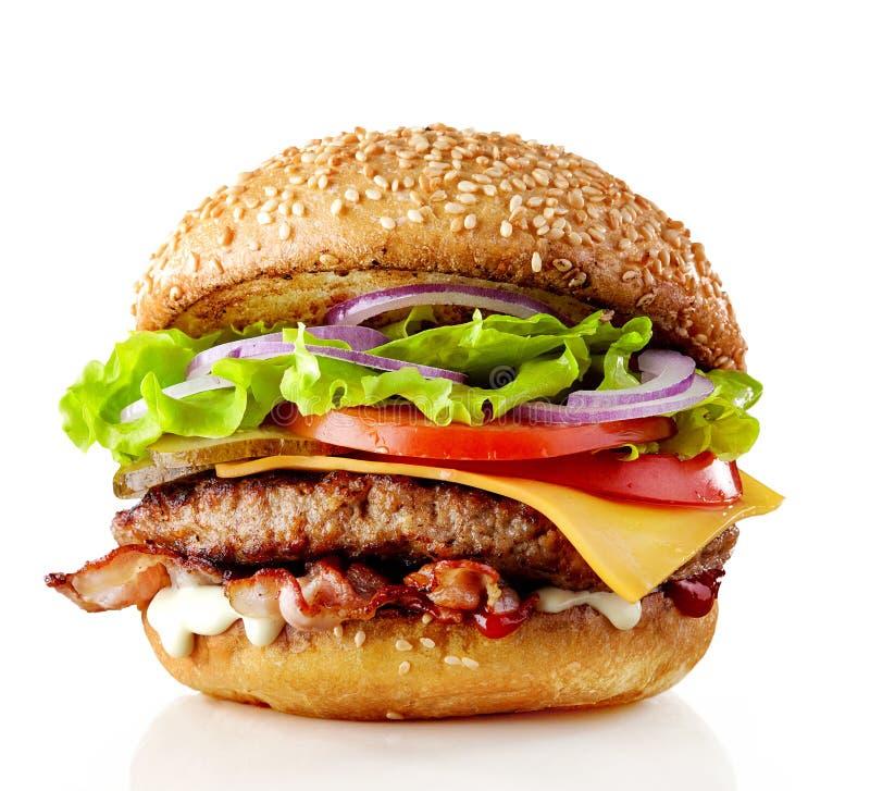 Frischer geschmackvoller Burger lizenzfreies stockfoto