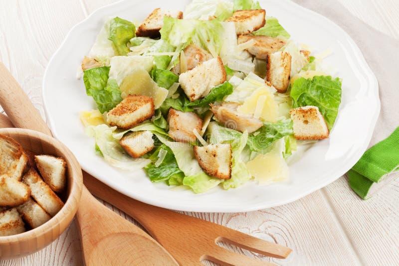 Frischer gesunder Caesar-Salat stockfoto