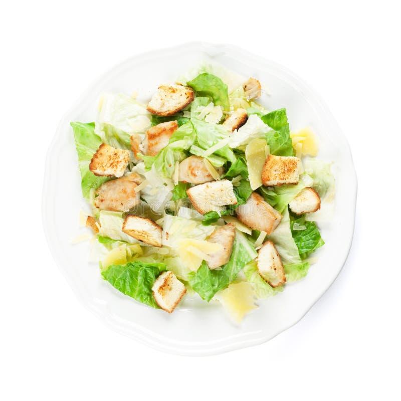 Frischer gesunder Caesar-Salat stockbilder