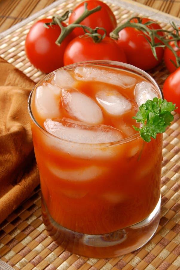 Frischer gesunder Tomatesaft stockbilder