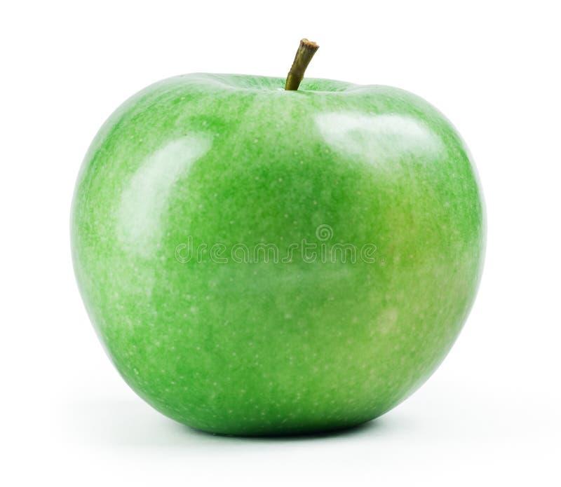 Frischer grüner Apfel getrennt lizenzfreies stockfoto