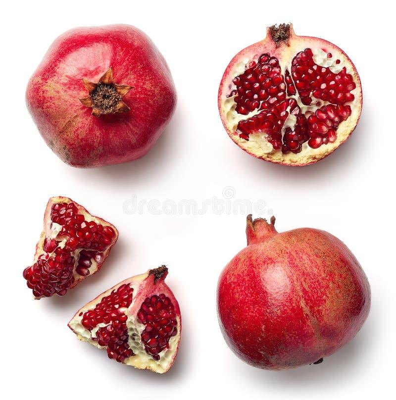 Frischer Granatapfel getrennt auf weißem Hintergrund lizenzfreie stockfotos