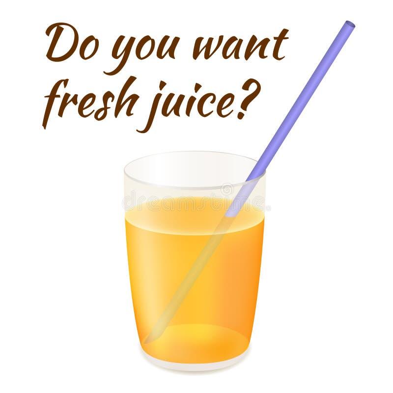 Frischer Juice Vector Illustration lizenzfreies stockbild
