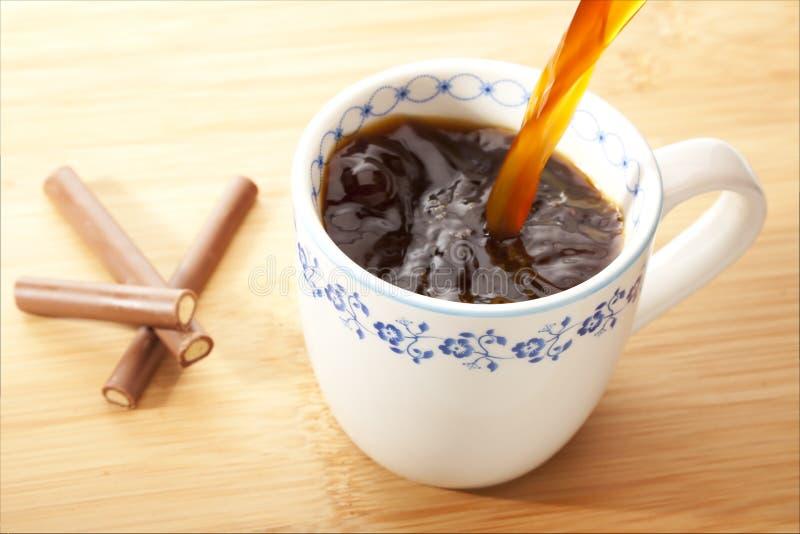 Frischer Kaffee stockbilder