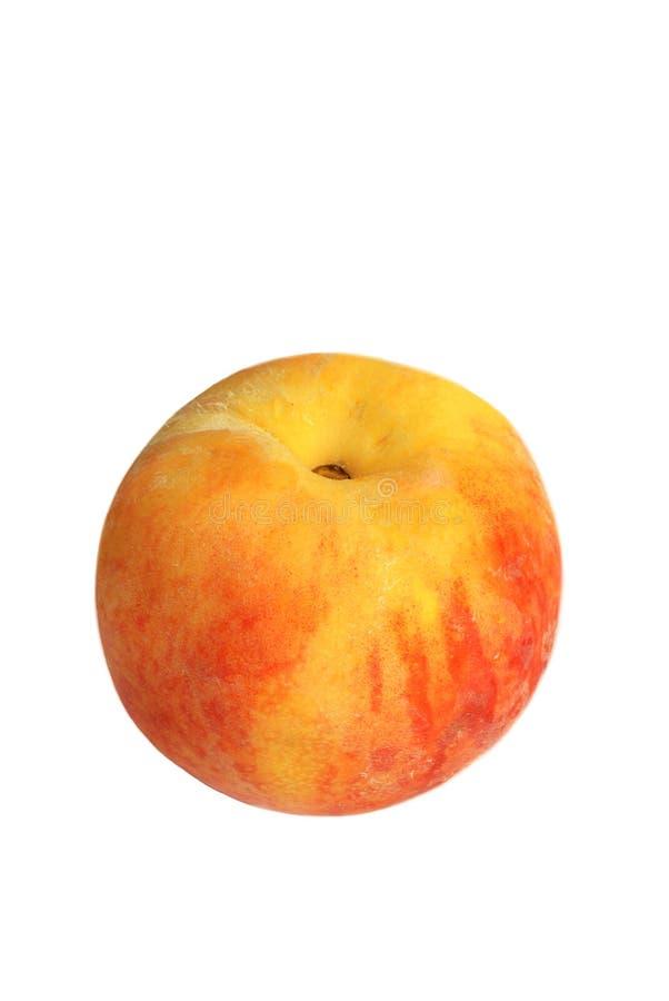 Frischer Pfirsich getrennt lizenzfreies stockfoto