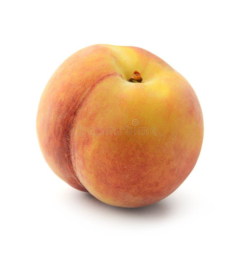 Frischer Pfirsich getrennt stockbilder